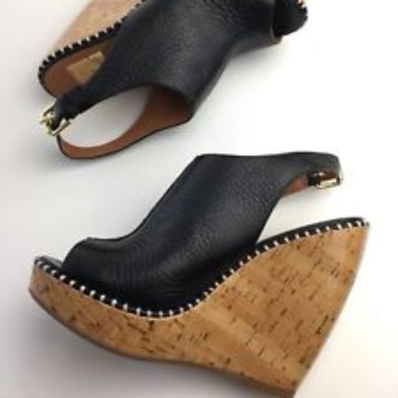 7cc648e941dd Dolce Vita black peep toe bootie wedges